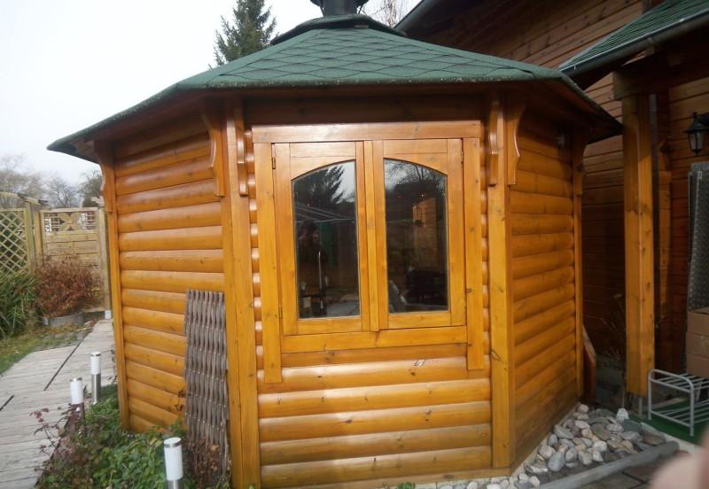 Ferienhaushotel Bühlerzell Sommerzeit Grill Zeit Terrasse mit Biergarten und Finnischen Grill Haus